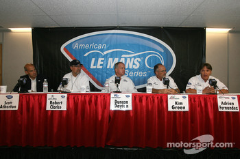 Acura press conference: Scott Atherton, Robert Clarke, Duncan Dayton, Kim Green and Adrian Fernandez