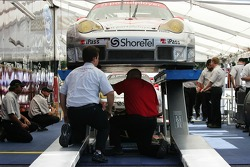 Flying Lizard Motorsports Porsche 911 GT3 RSR at technical inspection