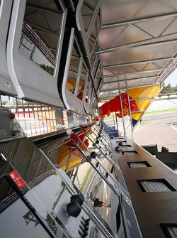 Red Bull Racing pit perch