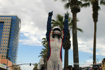 Robert Wickens celebrates