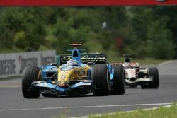 Fernando Alonso leads Rubens Barrichello