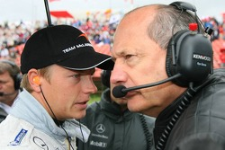 Kimi Raikkonen and Ron Dennis