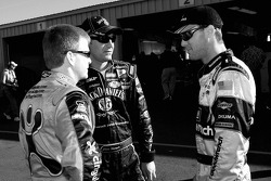 Jeff Burton, Clint Bowyer and Kevin Harvick