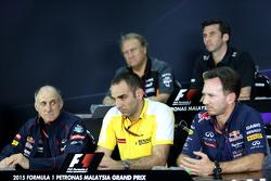 Cyril Abiteboul, Renault Sport F1 en Christian Horner, Red Bull Racing, Sporting Director