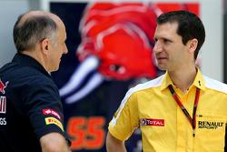 Franz Tost, Scuderia Toro Rosso-teambaas en Remi Taffin, Renault Sport F1 Head of track operations