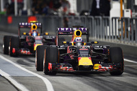 Daniel Ricciardo, Red Bull Racing RB11 and team mate Daniil Kvyat, Red Bull Racing RB11