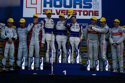 Podium: second place Simon Dolan, Filipe Albuquerque , Harry Tincknell, winners Bjorn Wirdheim, Jon Lancaster, Gary Hirsch, third place Tristan Gommendy, Pierre Thiriet, Ludovic Badey