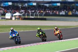 Maverick Viñales, Team Suzuki MotoGP and Pol Espargaro, Monster Yamaha Tech 3 and Stefan Bradl, Athina Forward Racing Yamaha