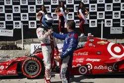 Scott Dixon, Chip Ganassi Racing Chevrolet and Tony Kanaan, Chip Ganassi Racing Chevrolet