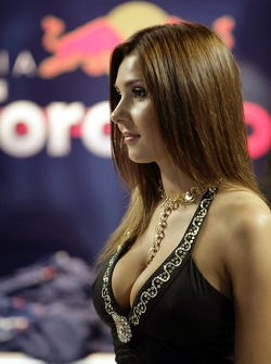 A lovely meteorine in the Scuderia Toro Rosso garage