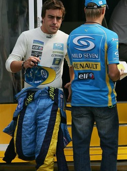 Fernando Alonso and Heikki Kovalainen