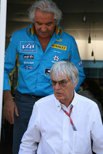 Bernie Ecclestone and Flavio Briatore