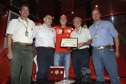 Michael Schumacher receives a ski teacher's diploma