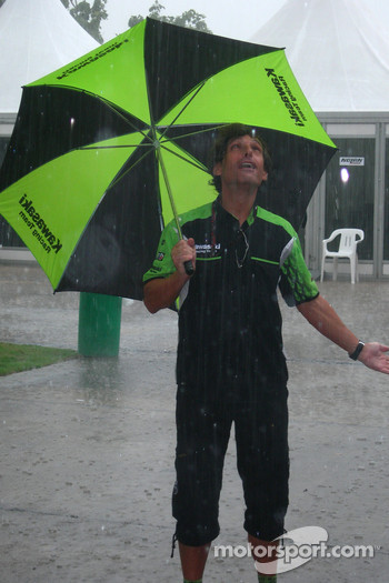 Heavy rain at Sepang