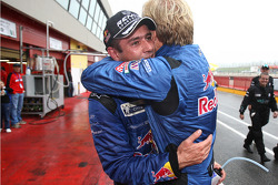 Race winners Karl Wendlinger and Philipp Peter celebrate