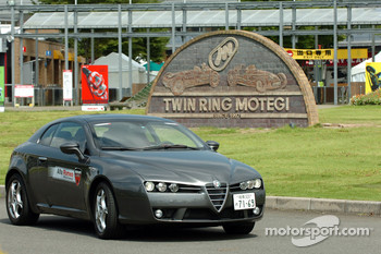 Alfa Romeo on display at Motegi