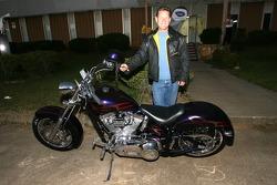 Dorsey Schroeder and his Harley Davidson