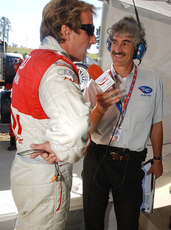 Frank Biela is interviewed prior to qualifying