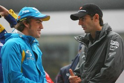 Fernando Alonso and Pedro de la Rosa