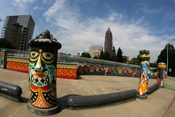 Visit of Atlanta: funky sculptures in a park