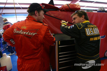 Dale Earnhardt Jr. and Joe Nemechek