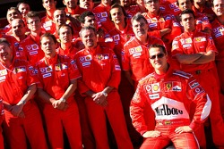 Scuderia Ferrari photoshoot: Michael Schumacher