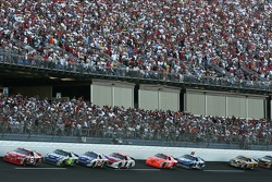 Dale Earnhardt Jr. leads Jimmie Johnson and Brian Vickers