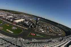 A view of Lowe's Motor Speedway Charlotte from turn 1