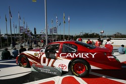The 2007 Toyota Camry Nextel Cup car on display