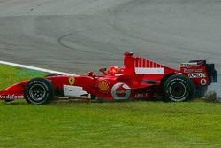 Michael Schumacher spins