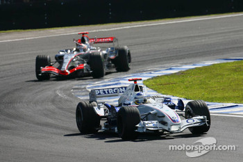 Nick Heidfeld and Kimi Raikkonen