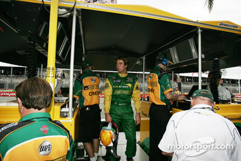 Will Power in the Team Australia pit box