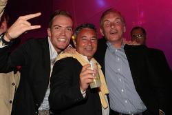 Robert Doornbos, manager Marco Zecchi and Harry Muermans