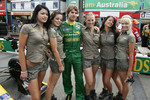 Will Power with the Team Australia girls