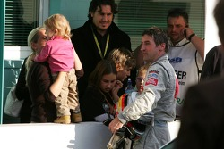 Bernd Schneider with his girlfriend Svenja Weber and his kids