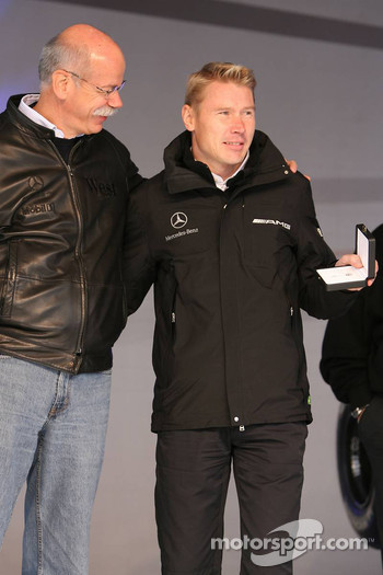 Dr. Dieter Zetsche and Mika Hakkinen