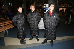 Visit of Ski Dubai: Rui Aguas, Mika Salo, Jaime Melo
