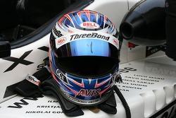 Marko Asmer's helmet