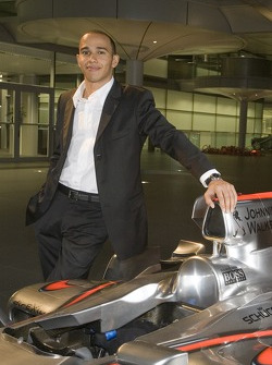 Lewis Hamilton at the McLaren Technology Centre
