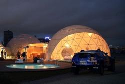 Volkswagen Motorsport test at Strandkai Beach Resort, Hamburg: Volkswagen Motorsport Lounge