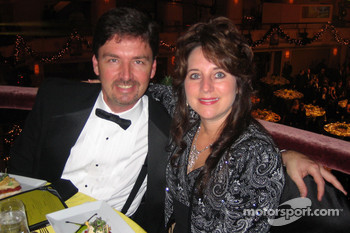NASCAR Dodge Weekly Series national champion Philip Morris and his wife, Donna, at the NASCAR NEXTEL Cup Series Awards Ceremony