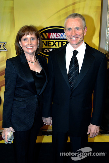 Arlene and Mark Martin took a stroll down the yellow carpet