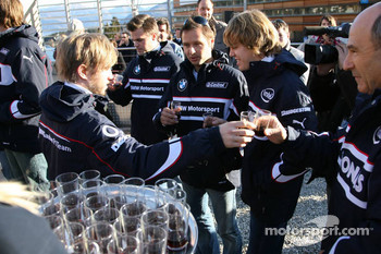 Nick Heidfeld, Andy Priaulx, Sebastian Vettel and Peter Sauber