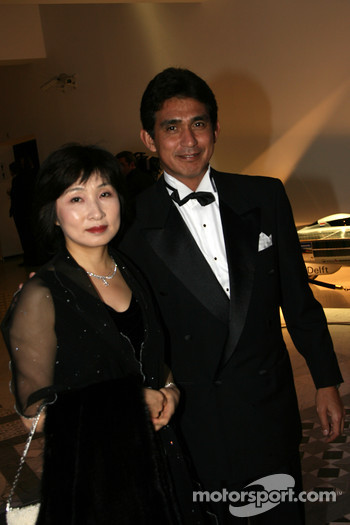 Aguri Suzuki, Team Principle of Super Aguri F1 Team and wife