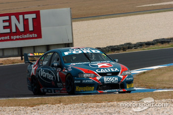 Russell Ingall at the back of the field