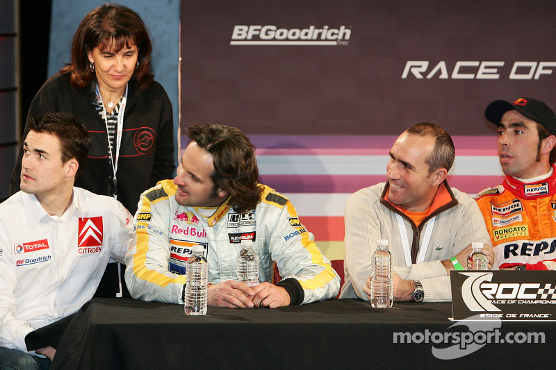 Yvan Muller, Stéphane Peterhansel and Nani Roma