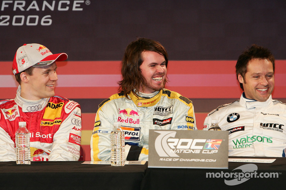 Mattias Ekström, James Thompson and Andy Priaulx
