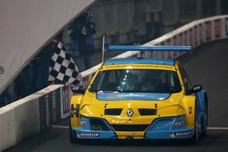 Superfinal 2: Race of Champions winner Mattias Ekström celebrates