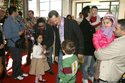 Ferrari celebrares Christmas with children