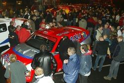 Team Dessoude Saint Lô presentation: fans watch Team Dessoude cars
